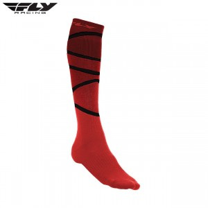 Fly Racing 2018 Thick MX Sock Red/ Black