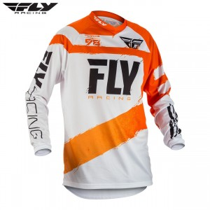 Fly Racing 2018 F-16 Motocross Jersey Orange White