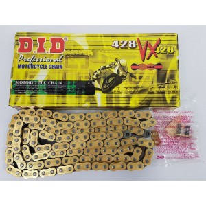 DID 428 VX Heavy Duty X-Ring Drive Chain 134 Links Gold & Black