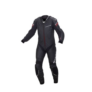 Macna Hyper 1-Piece Leather Race Suit Black