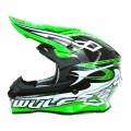 Wulfsport Sceptre Adult Motocross Off Road Helmet Green