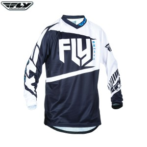 Fly Racing 2017 F-16 Motocross Jersey Black White