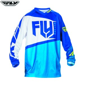 Fly Racing 2017 F-16 Motocross Jersey Blue Hi Visibilty