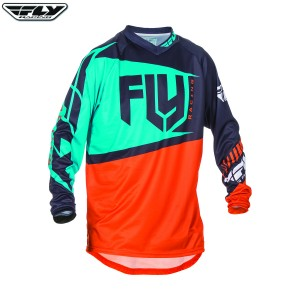 Fly Racing 2017 F-16 Motocross Jersey Orange Teal