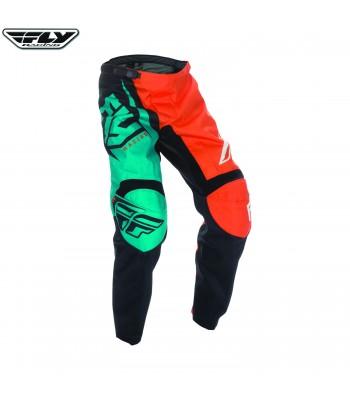 Fly Racing 2017 F-16 Motocross Race Pants Orange Teal