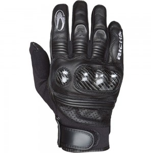 f2fc104ce4 Richa Protect Short Summer Vented Carbon Knuckle Leather Textile Motorcycle  Gloves Black
