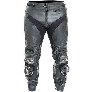 RST Black Series Leather Jeans Black