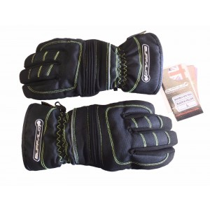 Buffalo Trail Thermal Waterproof Textile Motorcycle Gloves Black