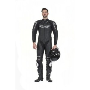 RST Tractech Evo II 1 Piece Leather Motorcycle Suit Black