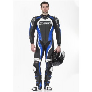 RST Tractech Evo II 1 Piece Leather Motorcycle Suit Blue