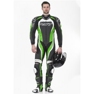 RST Tractech Evo II 1 Piece Leather Motorcycle Suit Green