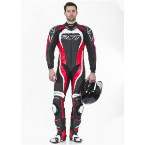 RST Tractech Evo II 1 Piece Leather Motorcycle Suit Red