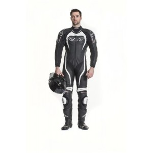 RST Tractech Evo II 1 Piece Leather Motorcycle Suit White