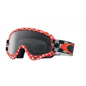 Oakley O-Frame XS Kids Motocross Goggles -Limited Edition Skullbone Red