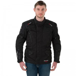 Rayven Defender Waterproof Textile Motorcycle Jacket Black