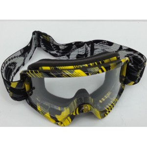 Oakley O-Frame XS Kids Motocross Goggles - Digi Slash Yellow/Black