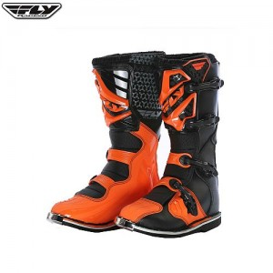 Fly Maverik Kids MX Boot Black Orange