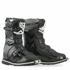 Fly Maverik Adult ATV Quad short 3 buckle Boot Black White