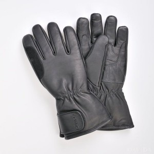 Davida Spring Autumn Leather Touring Motorcycle Glove Black