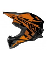 Nolan N53 Comp Orange Black MX Helmet