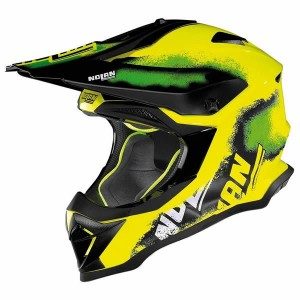 Nolan N53 Lazy Boy Yellow Green MX Helmet