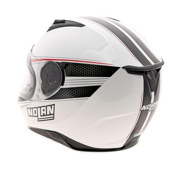 nolan n87 rapid metal white helmet. Black Bedroom Furniture Sets. Home Design Ideas