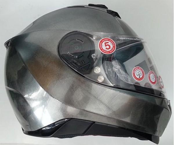 nolan n87 martz scratched chrome helmet. Black Bedroom Furniture Sets. Home Design Ideas