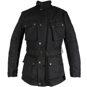 Richa Bonneville Waterproof Textile Wax Motorcycle Jacket Black