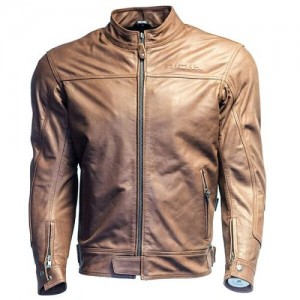 Richa Cafe Retro Motorcycle Leather Jacket Brown
