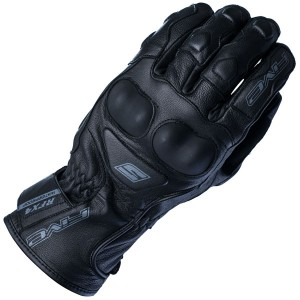 Five RFX4 Waterproof Leather Motorcycle Glove Black
