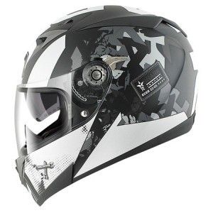 Shark S700S Trax Helmet Matt Black White