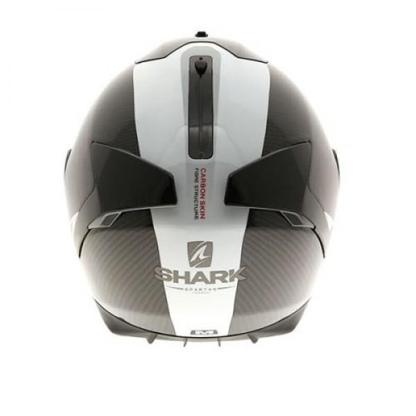shark spartan helmet carbon skin white. Black Bedroom Furniture Sets. Home Design Ideas
