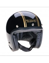 Brough Superior Speedster V3 Black Gold Open Face Helmet
