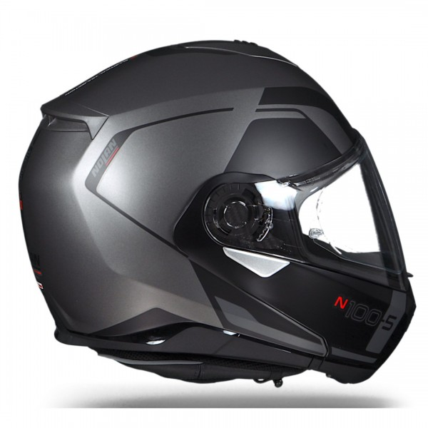 nolan n100 5 flip front helmet matt lava grey. Black Bedroom Furniture Sets. Home Design Ideas