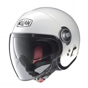 Nolan N21 Visor Open Face Helmet Metal White