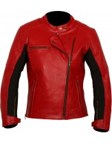 Weise Chicago Ladies Leather Jacket Red