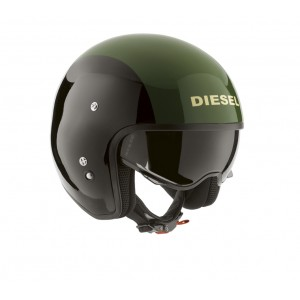 AGV Diesel Hi Jack Open Face Motorcycle Helmet - Green / Black