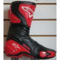 Alpinestars SMX 4 Motorcycle Boots - Red