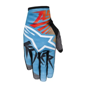 Alpinestars Braap Kids Race Gloves Red Blue Orange