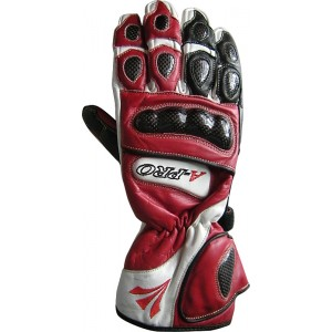 A-Pro H Tech Motorcycle Gloves - Red