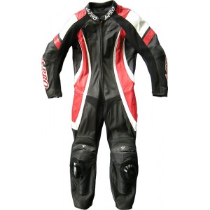 A-Pro Pilot 1 Piece Motorcycle Leather Suit - Red