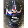 Arashi Tsunami Red White Blue Helmet
