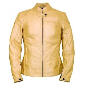 Bering Lisa Leather Motorcycle Jacket - Tan