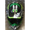 CMS CR1 Green White Black Adult MX Helmet
