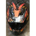 CMS CR1 Lumex Orange Black Silver Adult MX Helmet