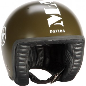 Davida Jet Complex Open Face Retro Motorcycle Helmet - Mashed