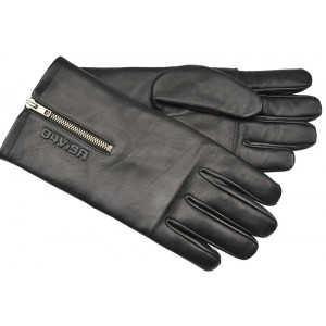 Davida D4Vi9A Ladies Racer Leather Motorcycle Gloves - Black