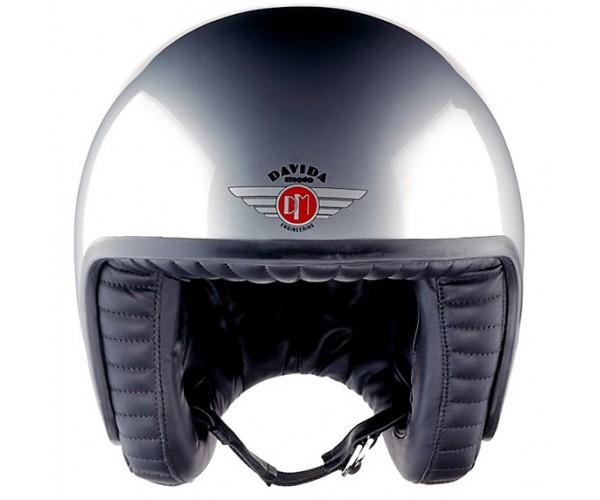 Motorcycle Helmets And Jackets Home » Davida Jet Standard Open Face Retro Motorcycle Helmet - Silver