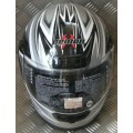 Demon Street Gloss Silver Black Helmet