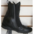 Diora Demon Waterproof Black Motorcycle Boots